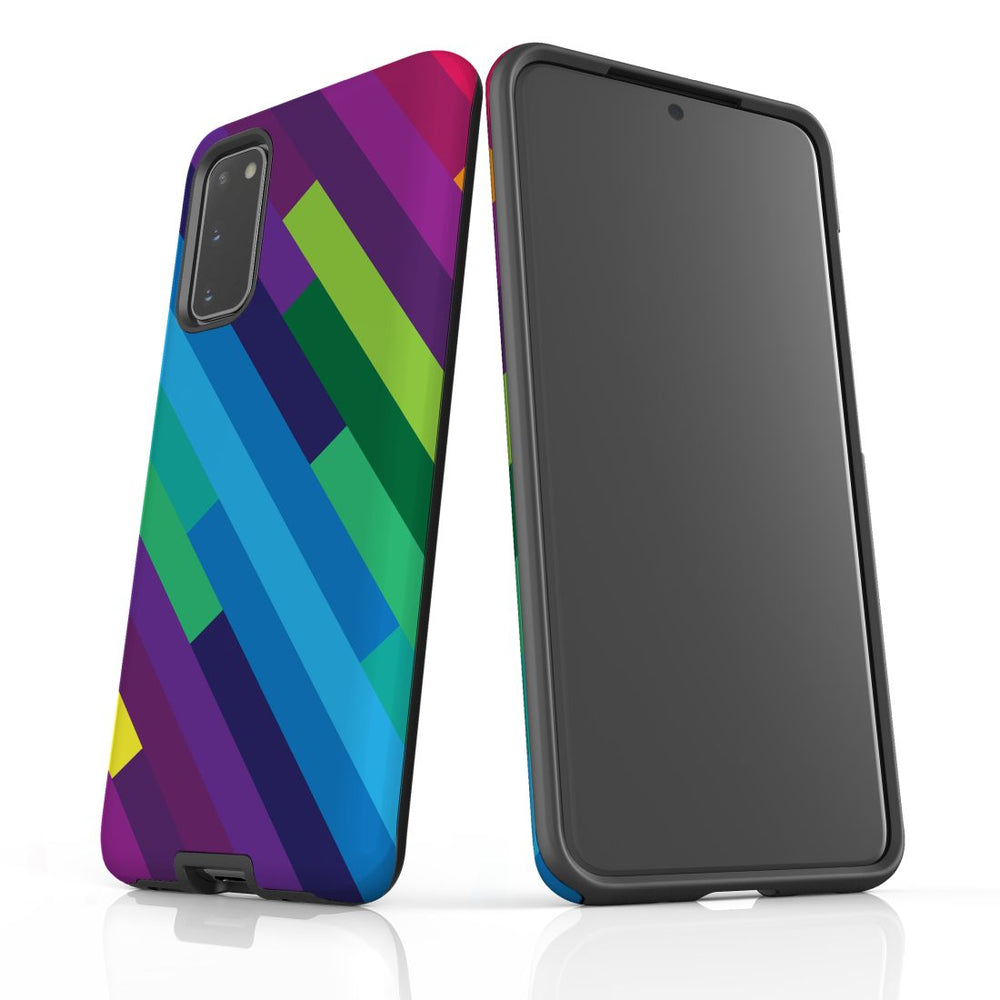 For Samsung Galaxy S20 Protective Case, Rainbow Pattern