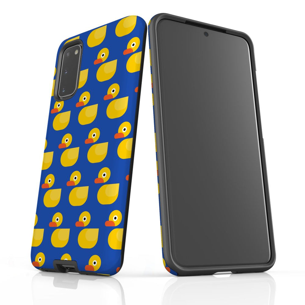 For Samsung Galaxy S20 Protective Case, Yellow Duckies Pattern