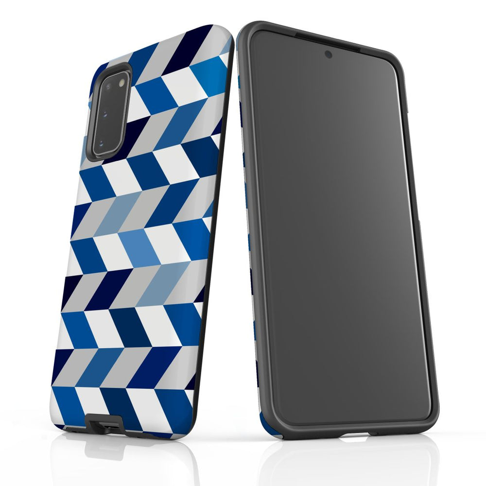 For Samsung Galaxy S20 Protective Case, Zigzag Chevron Pattern