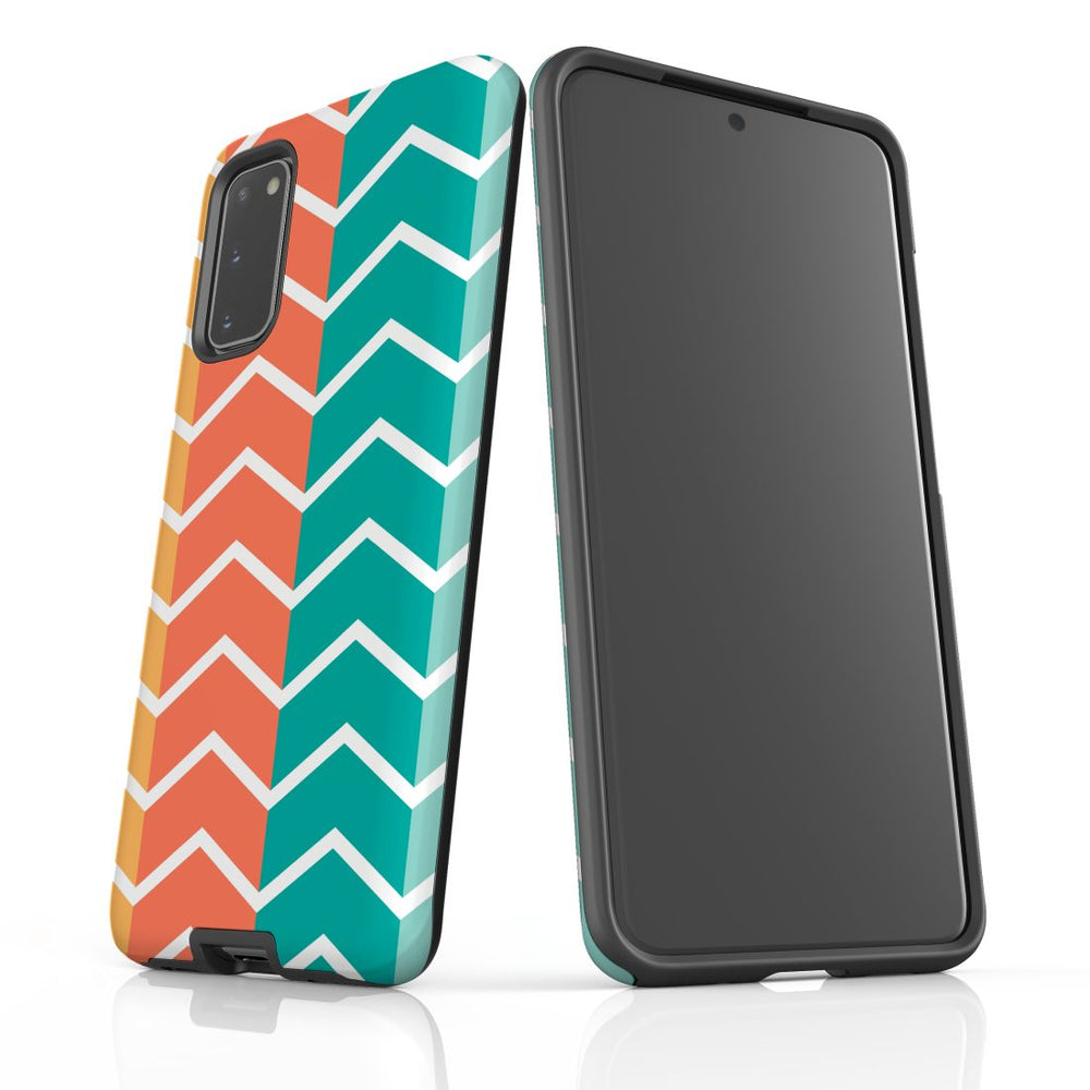 For Samsung Galaxy S20 Protective Case, Zigzag Colorful Pattern