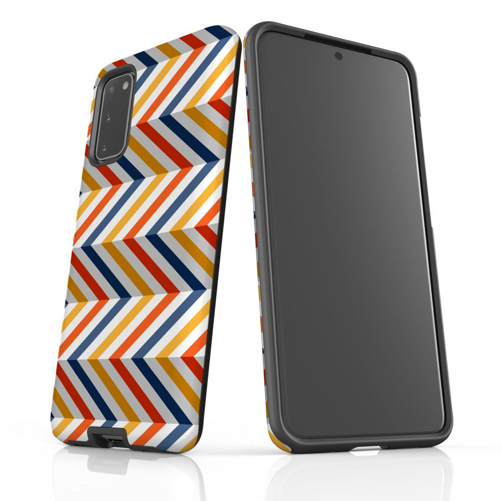 For Samsung Galaxy S20 Protective Case, Zigzag Left Right Colorful Pattern