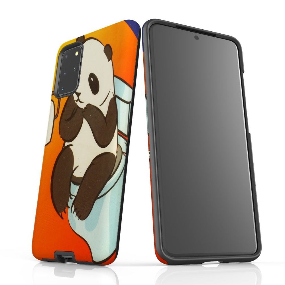Samsung Galaxy S20+ Plus Case Protective Cover, Panda's Toilet