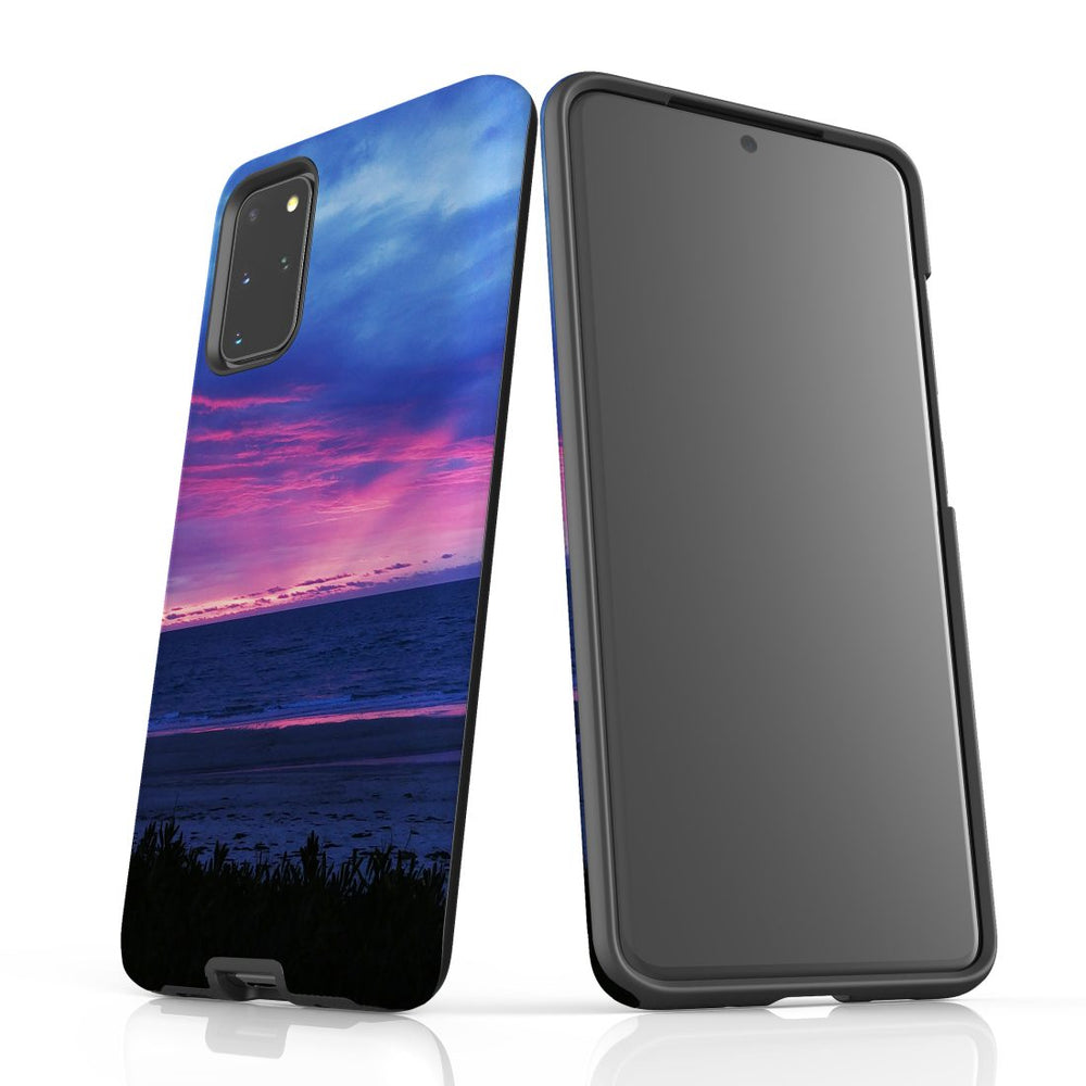 Samsung Galaxy S20+ Plus Case Protective Cover, Sunset at the Beach