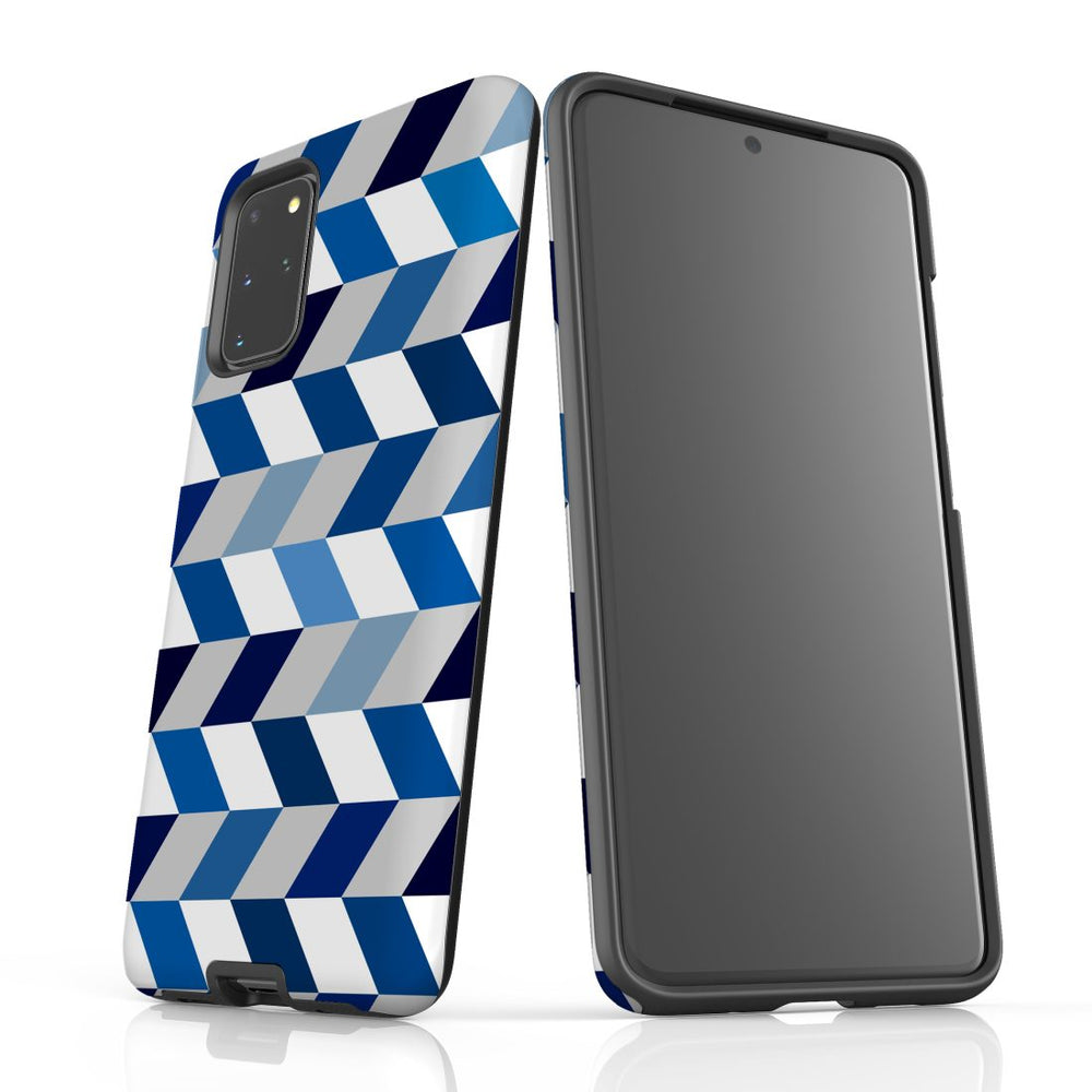 For Samsung Galaxy S20 Plus Protective Case, Zigzag Chevron Pattern