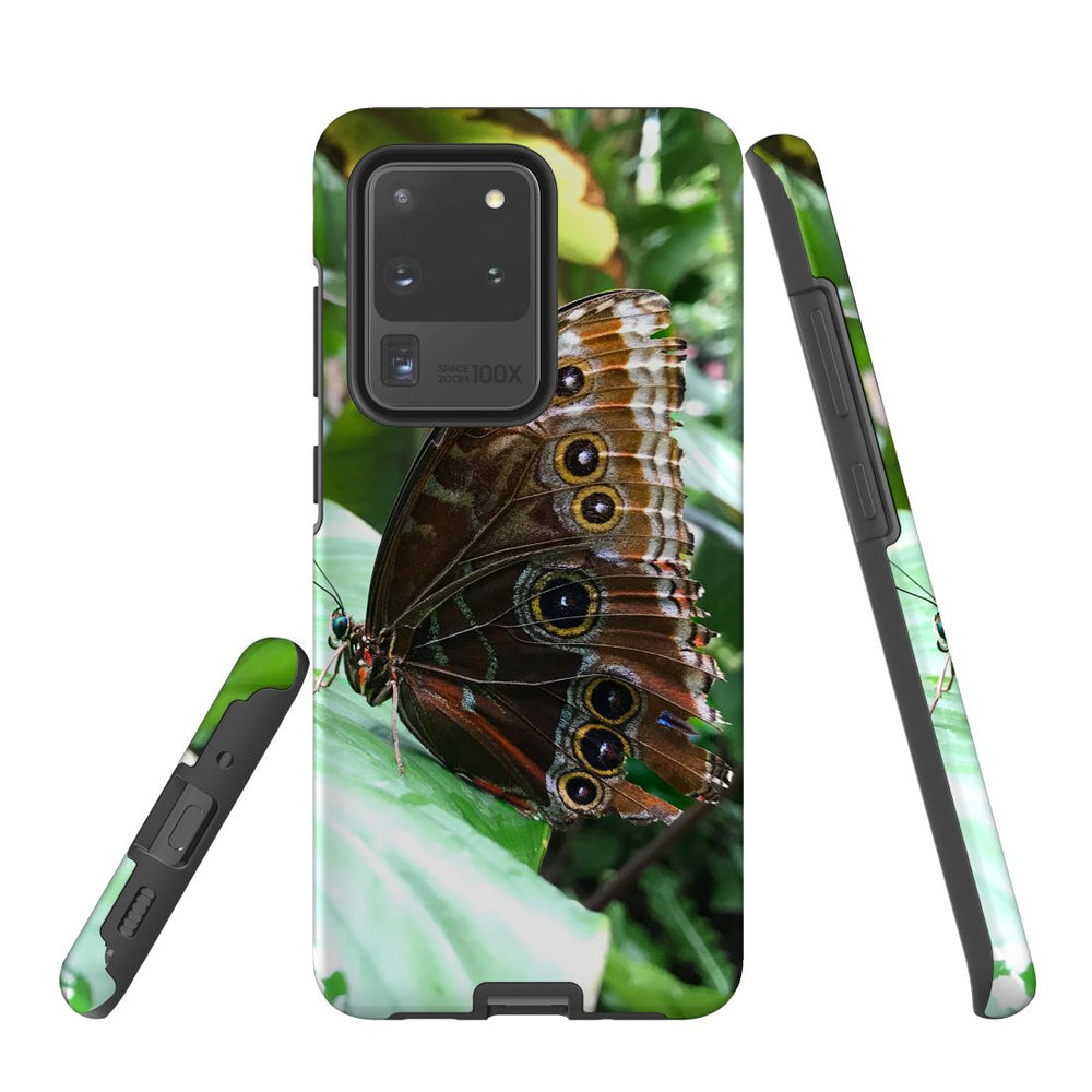 Samsung Galaxy S20 Ultra Case Protective Cover, Butterfly Leaf
