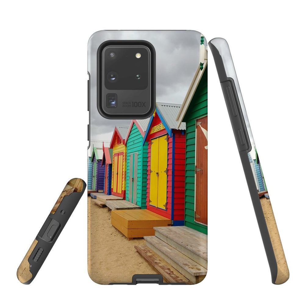Samsung Galaxy S20 Ultra Case Protective Cover, Brighton Bathing Boxes