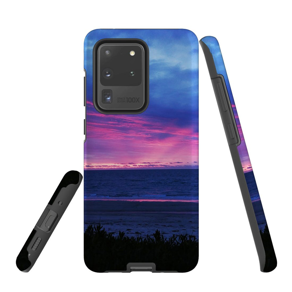 Samsung Galaxy S20 Ultra/S20+/S20,S10 5G/S10+/S10/S10e Case Protective Cover, Sunset at the Beach