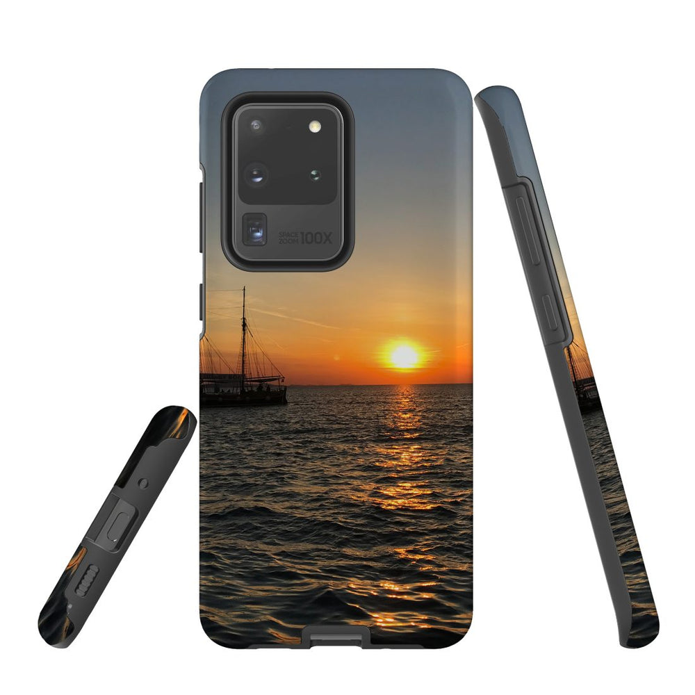 Samsung Galaxy S20 Ultra/S20+/S20,S10 5G/S10+/S10/S10e Case Protective Cover, Sailing Sunset
