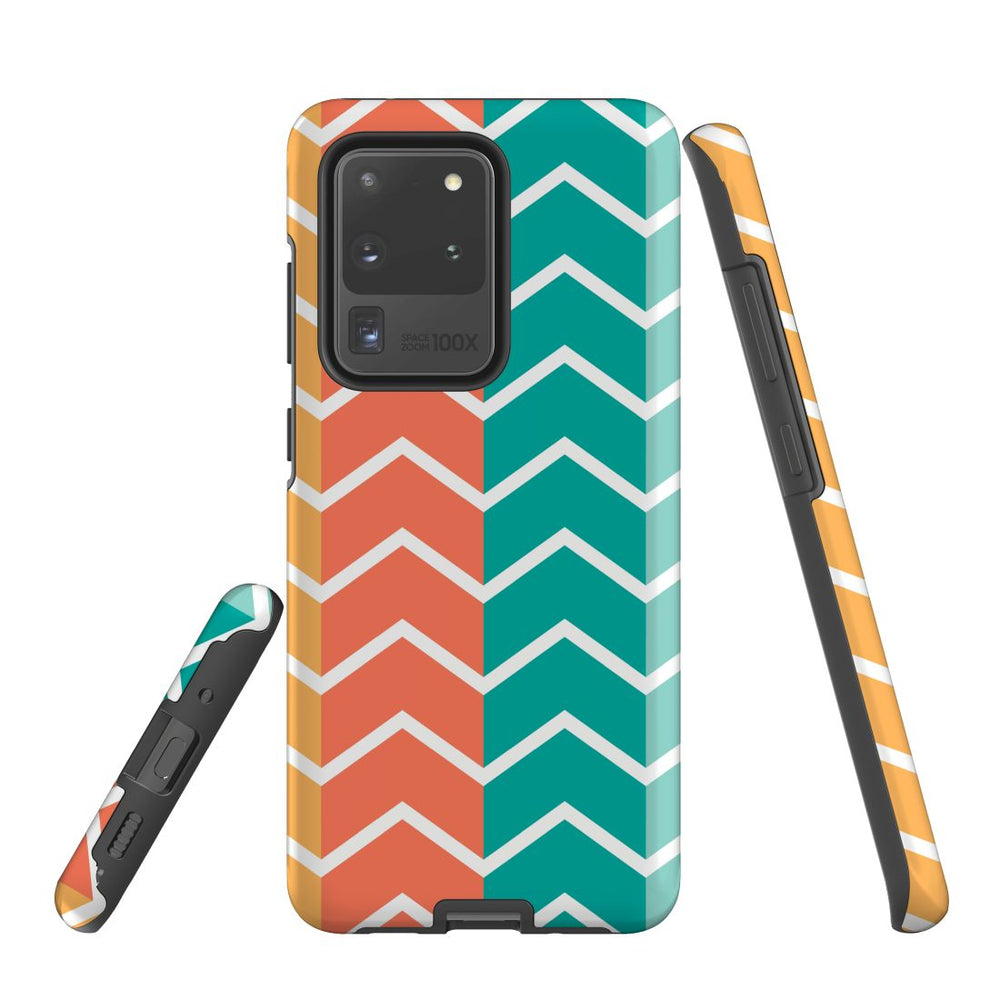For Samsung Galaxy S20 Ultra/S20+/S20,S10 5G/S10+/S10/S10e Protective Case, Zigzag Colorful