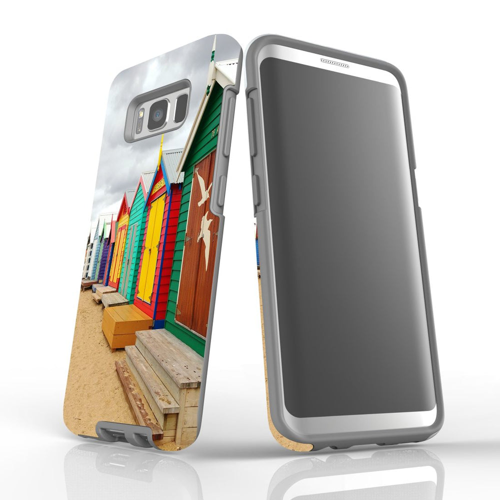 Samsung Galaxy S8 Case Protective Cover, Brighton Bathing Boxes