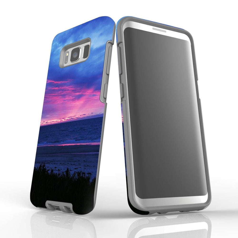 Samsung Galaxy S8 Case Protective Cover, Sunset at the Beach
