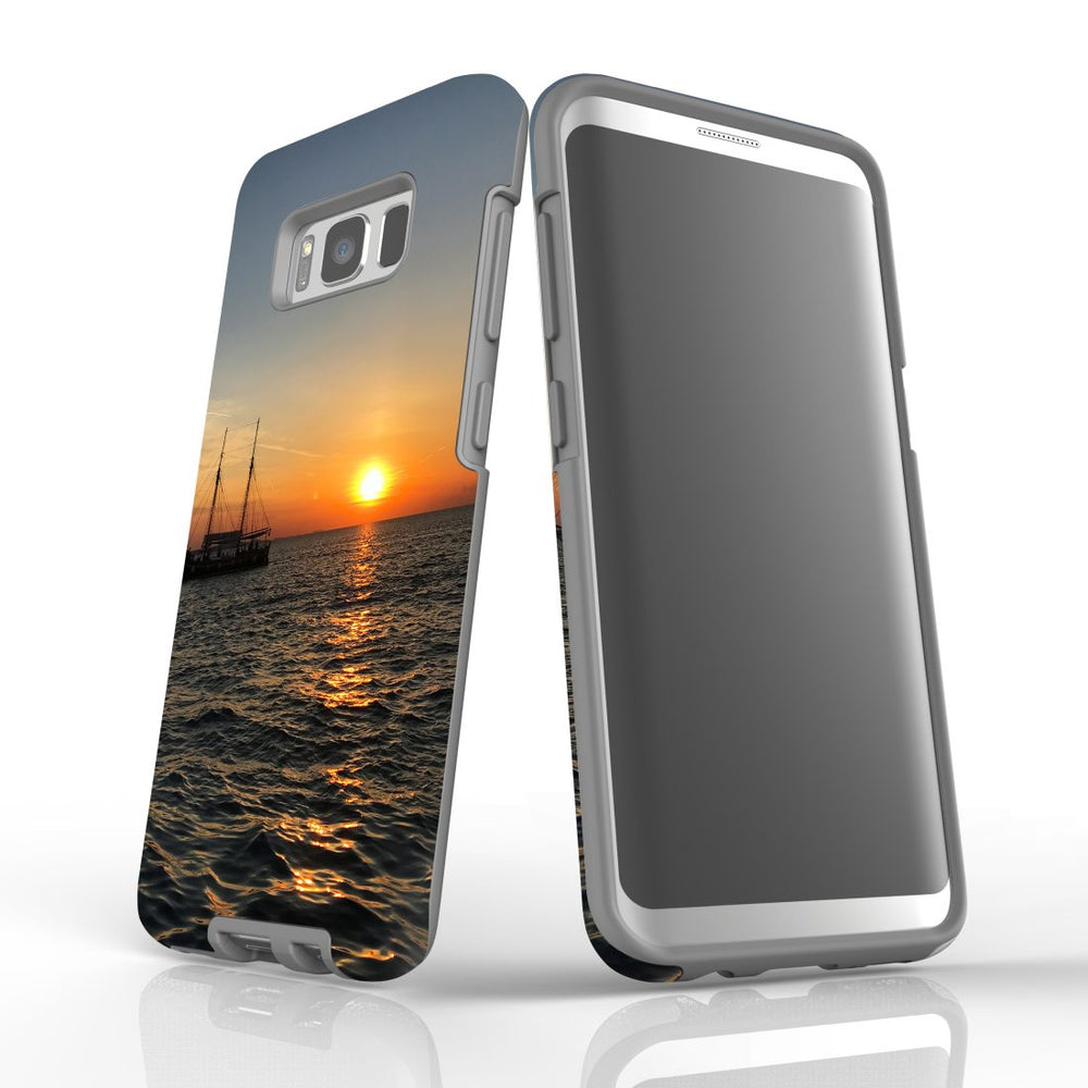 Samsung Galaxy S8 Case Protective Cover, Sailing Sunset