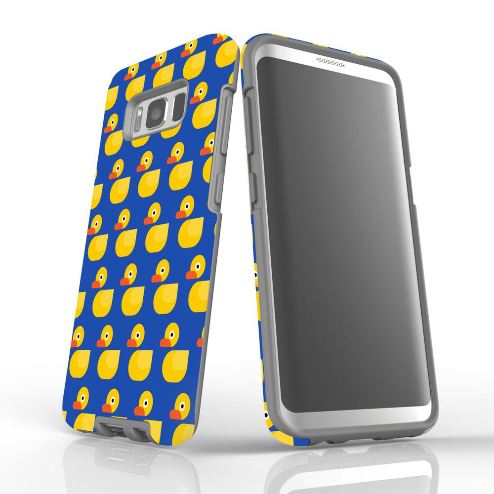 For Samsung Galaxy S8 Protective Case, Yellow Duckies Pattern