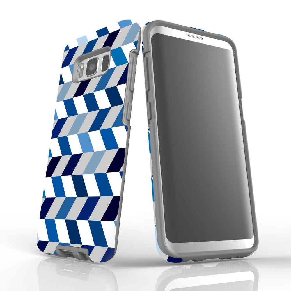 For Samsung Galaxy S8 Protective Case, Zigzag Chevron Pattern