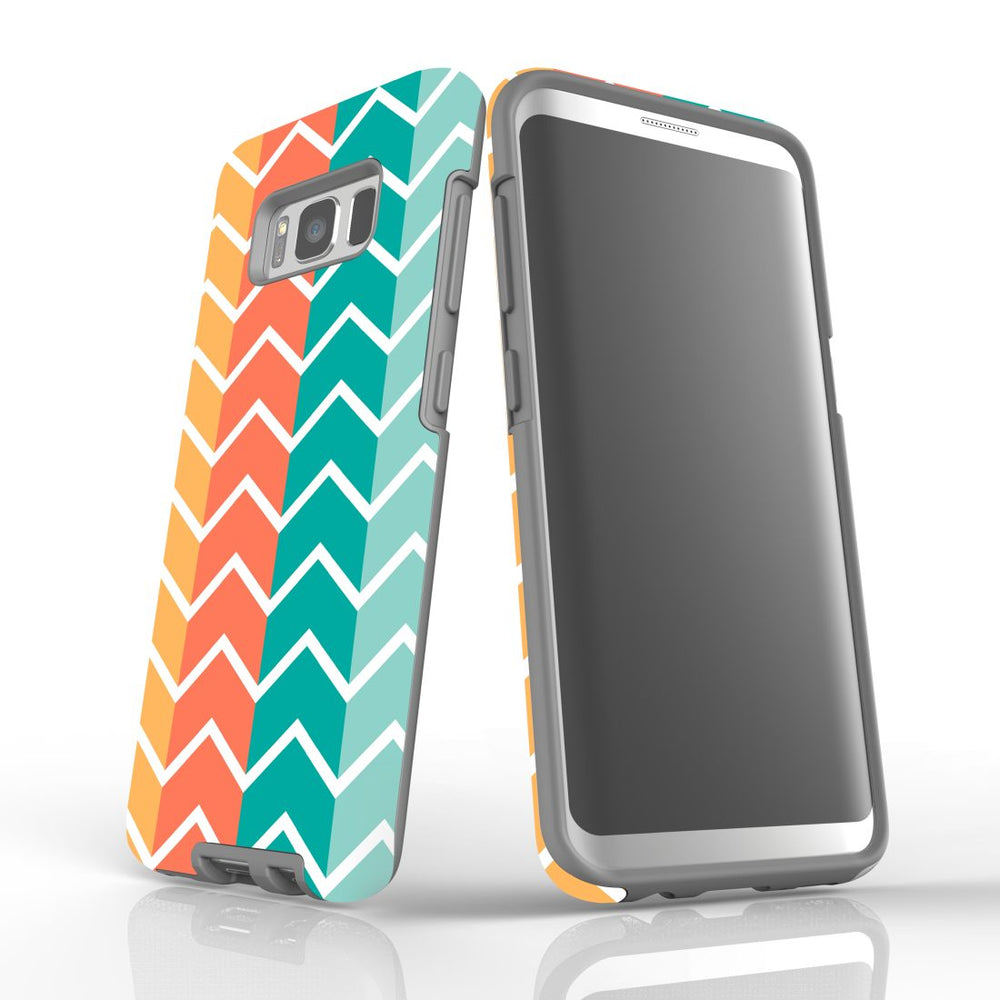 For Samsung Galaxy S8 Protective Case, Zigzag Colorful Pattern