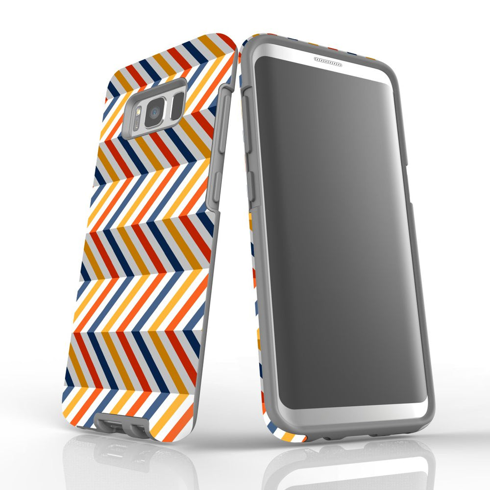 For Samsung Galaxy S8 Protective Case, Zigzag Left Right Colorful Pattern