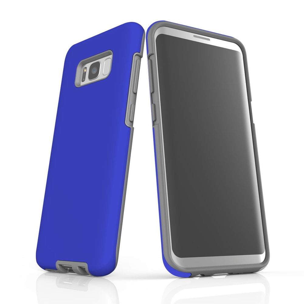 Samsung Galaxy S8+ Plus Case, Armour Tough Protective Cover, Blue