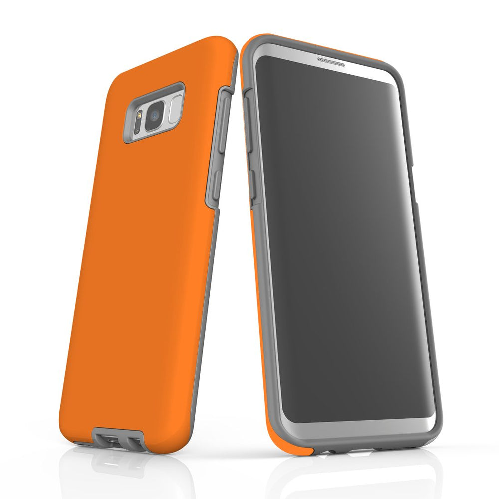 Samsung Galaxy S8+ Plus Case, Armour Tough Protective Cover, Orange