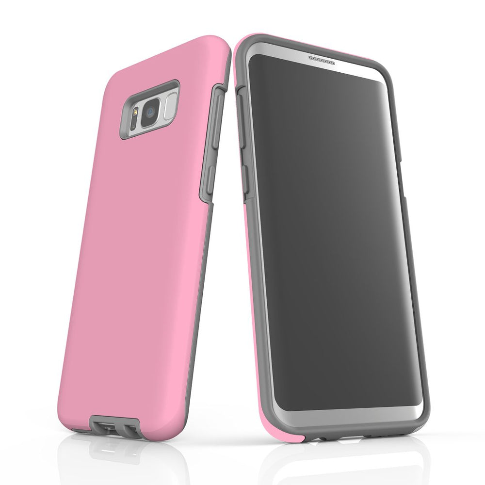 Samsung Galaxy S8+ Plus Case, Armour Tough Protective Cover, Pink