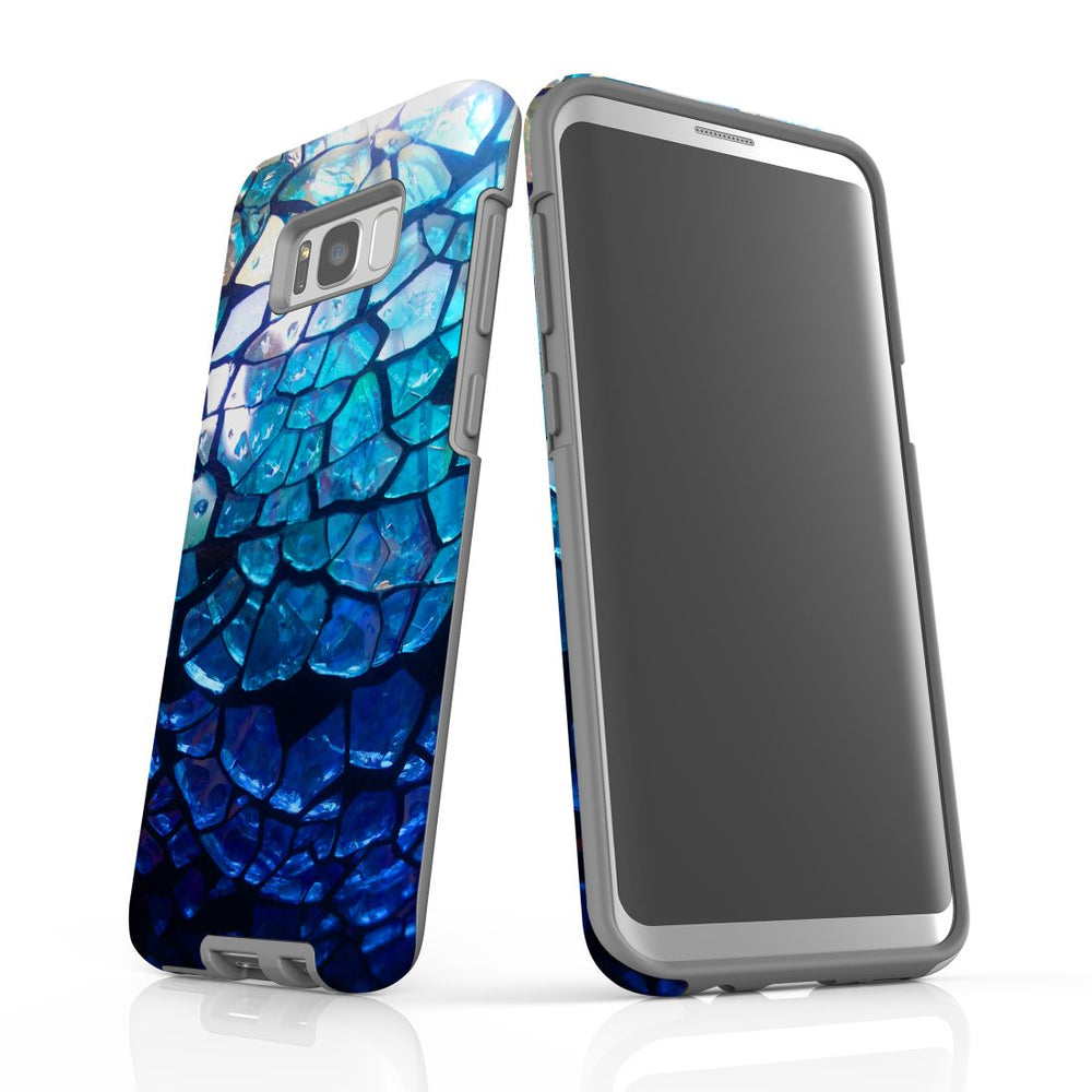 Samsung Galaxy S8+ Plus Case Protective Cover, Blue Mirror