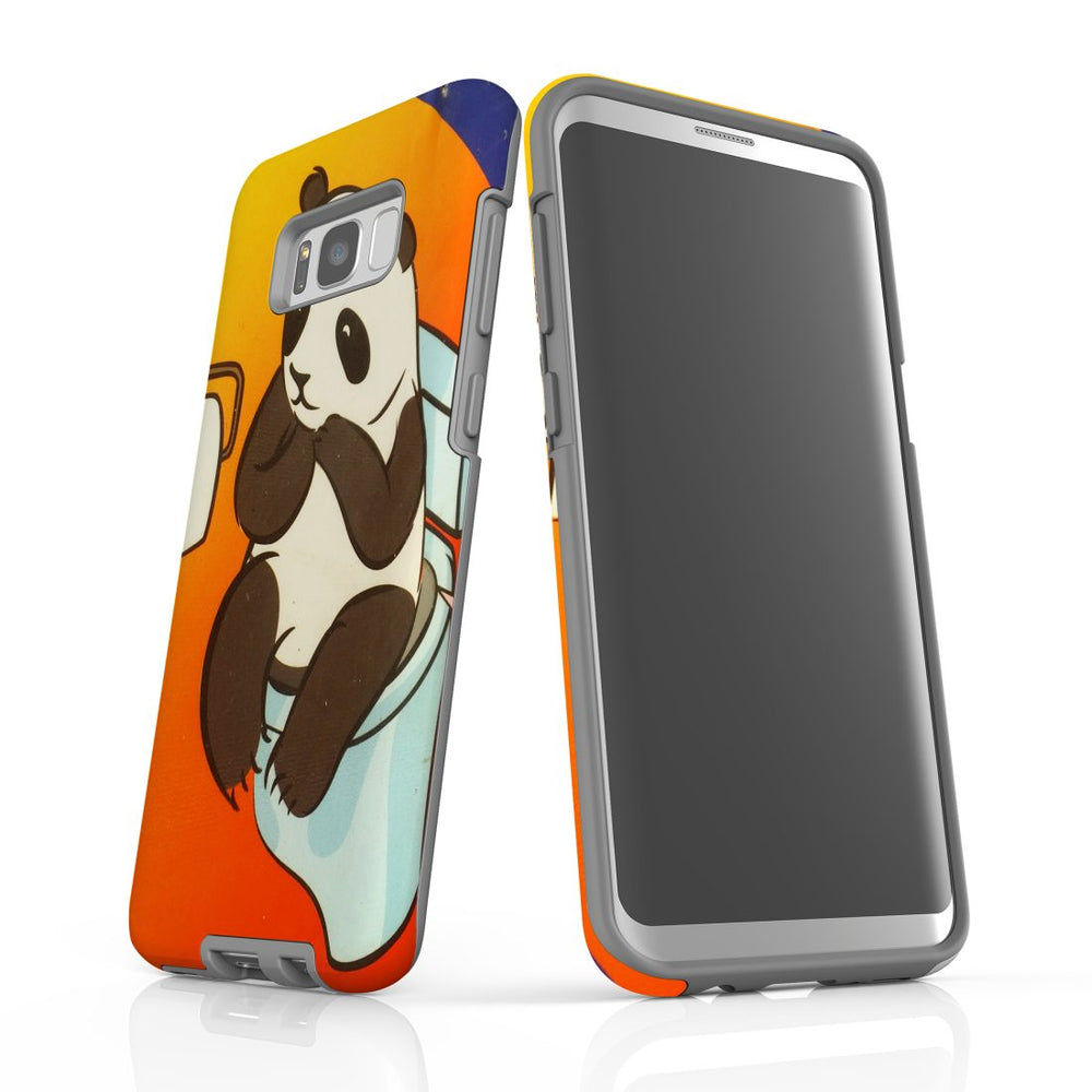 Samsung Galaxy S8+ Plus Case Protective Cover, Panda's Toilet