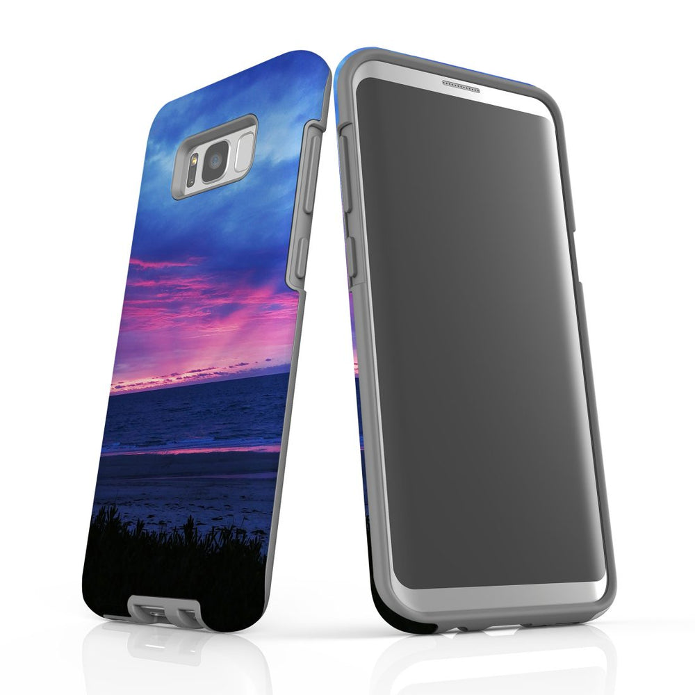 Samsung Galaxy S8+ Plus Case Protective Cover, Sunset at the Beach