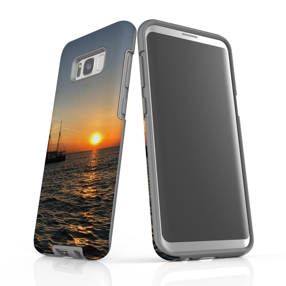 Samsung Galaxy S8+ Plus Case Protective Cover, Sailing Sunset