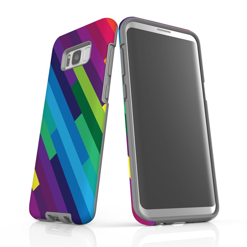 For Samsung Galaxy S8 Plus Protective Case, Rainbow Pattern