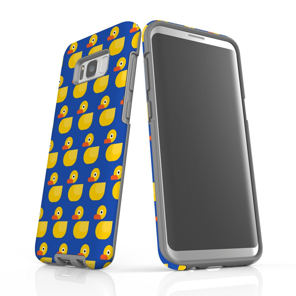 For Samsung Galaxy S8 Plus Protective Case, Yellow Duckies Pattern