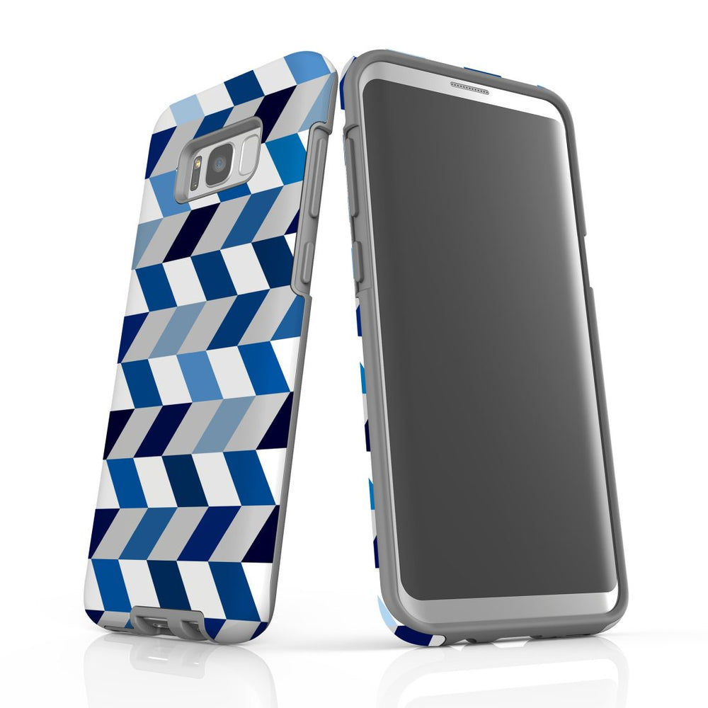For Samsung Galaxy S8 Plus Protective Case, Zigzag Chevron Pattern