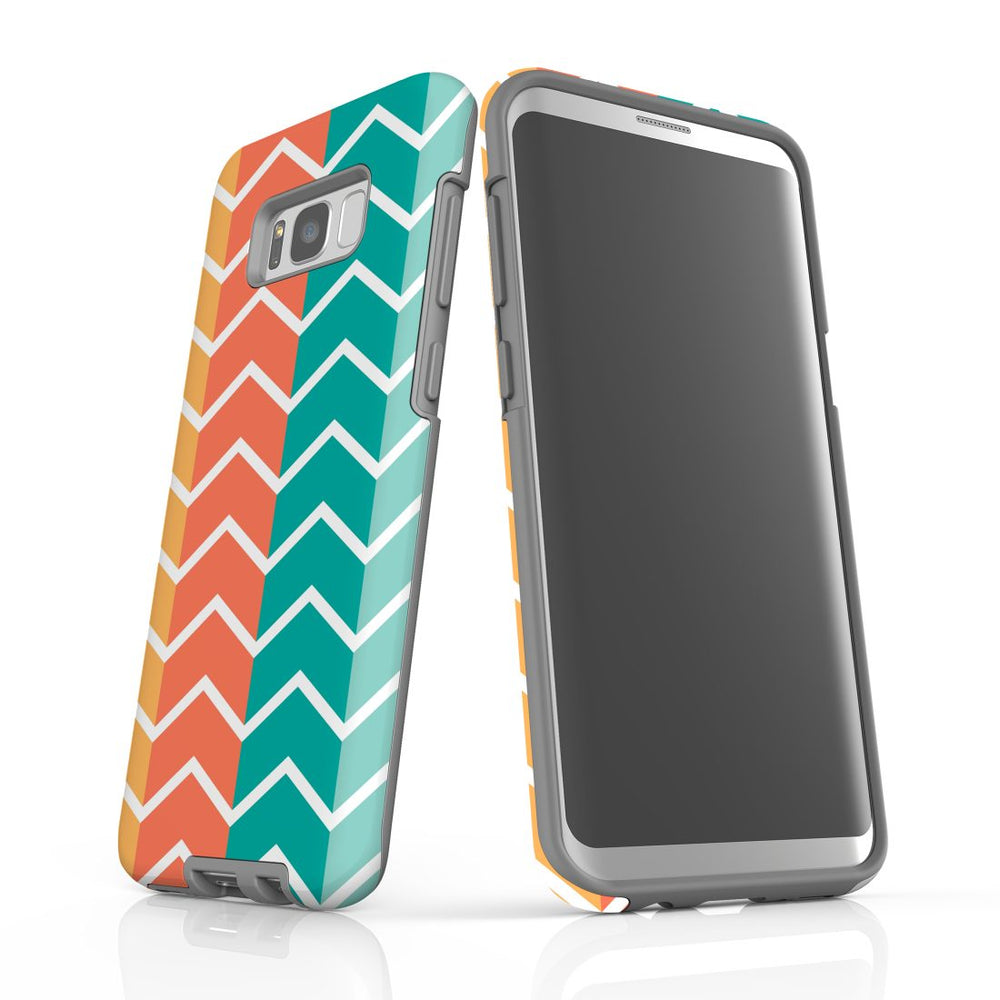 For Samsung Galaxy S8 Plus Protective Case, Zigzag Colorful Pattern