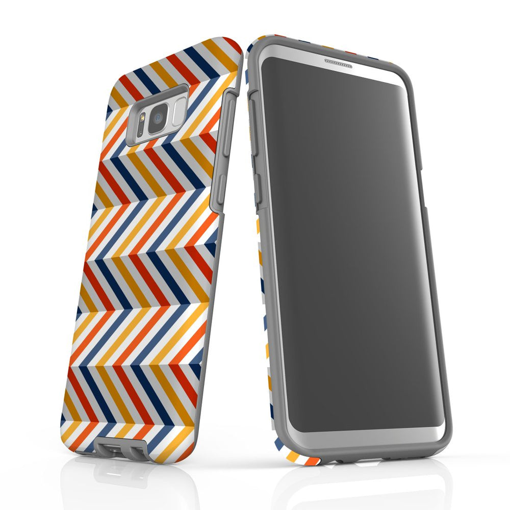 For Samsung Galaxy S8 Plus Protective Case, Zigzag Left Right Colorful Pattern