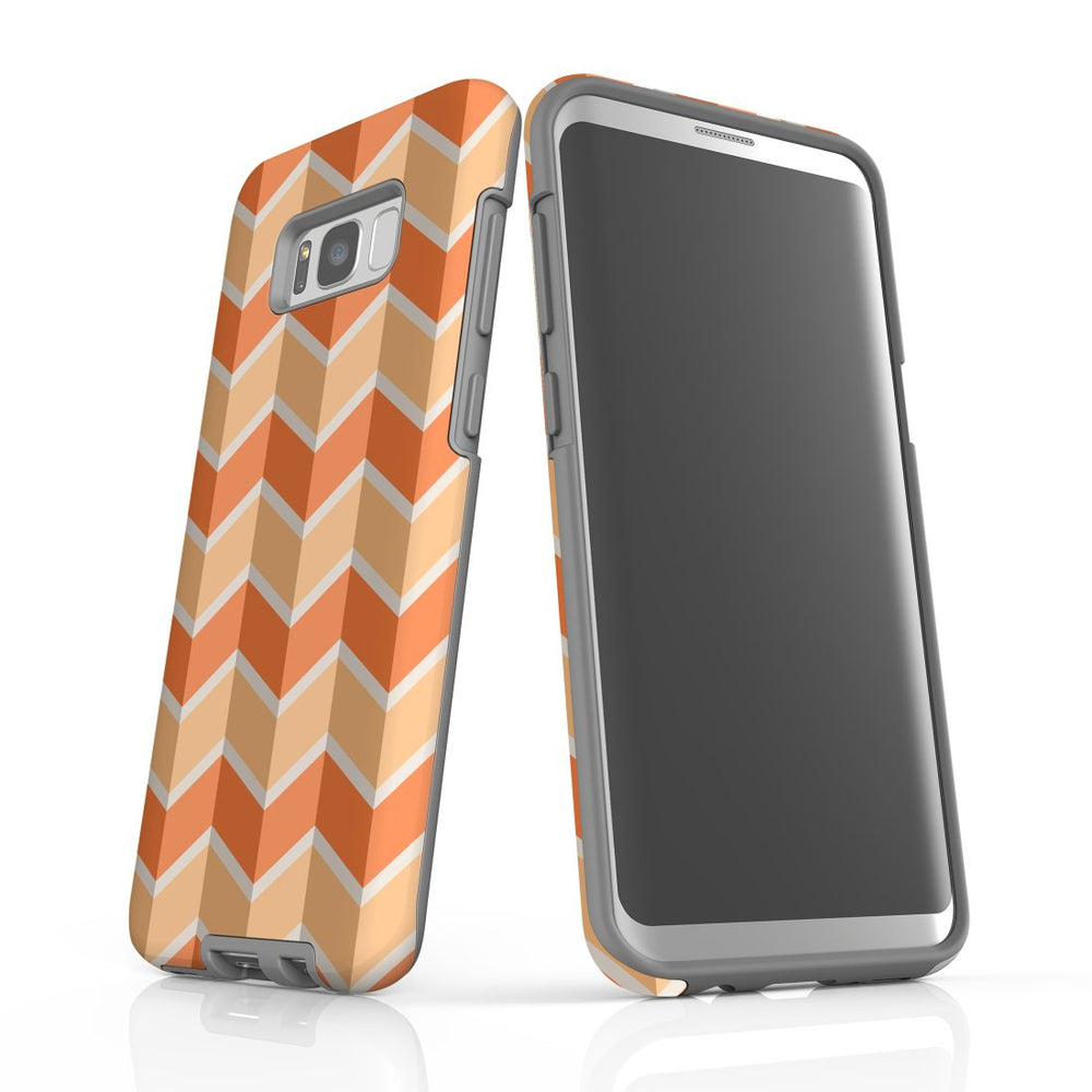 For Samsung Galaxy S8 Plus Protective Case, Zigzag Salmon Pattern
