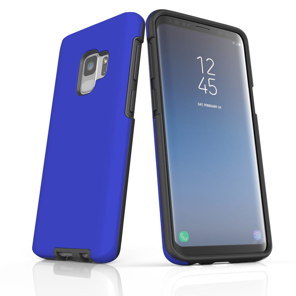 Samsung Galaxy S9 Case, Armour Tough Protective Cover, Blue