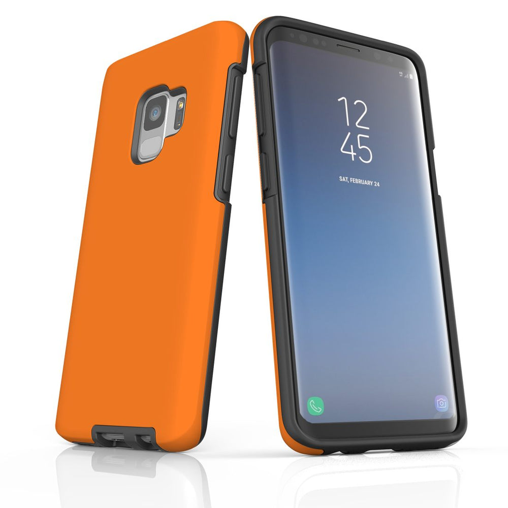 Samsung Galaxy S9 Case, Armour Tough Protective Cover, Orange