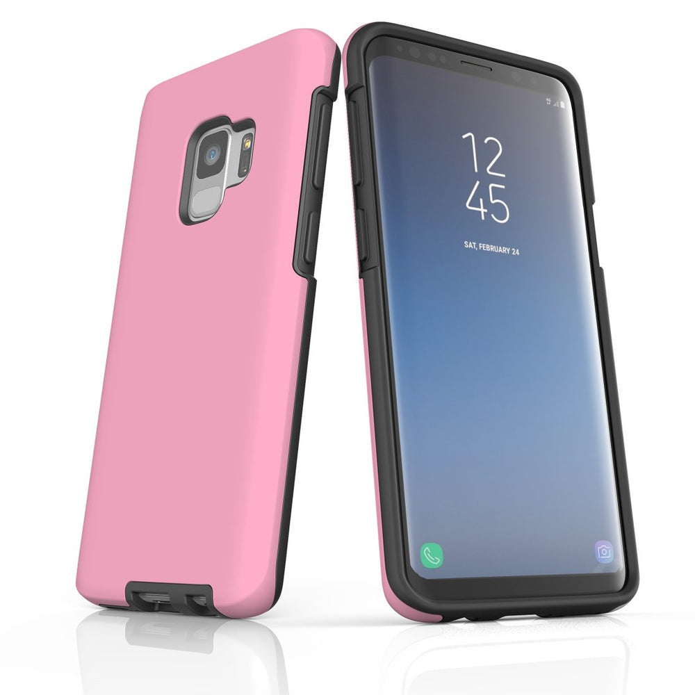 Samsung Galaxy S9 Case, Armour Tough Protective Cover, Pink