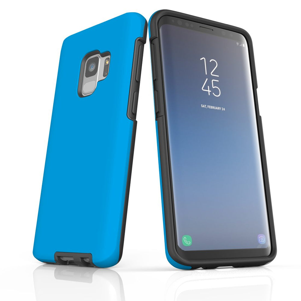 Samsung Galaxy S9 Case, Armour Tough Protective Cover, Turquoise