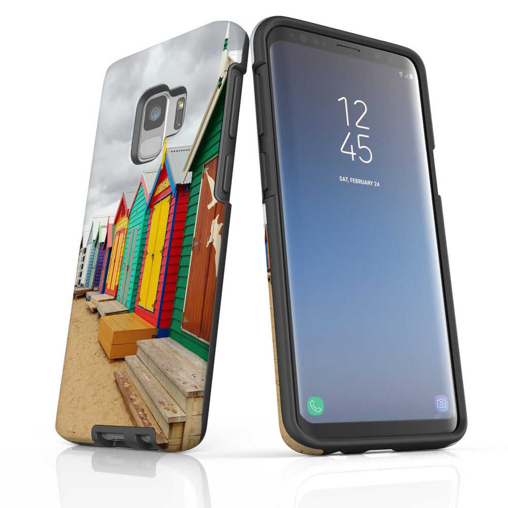 Samsung Galaxy S9 Case Protective Cover, Brighton Bathing Boxes