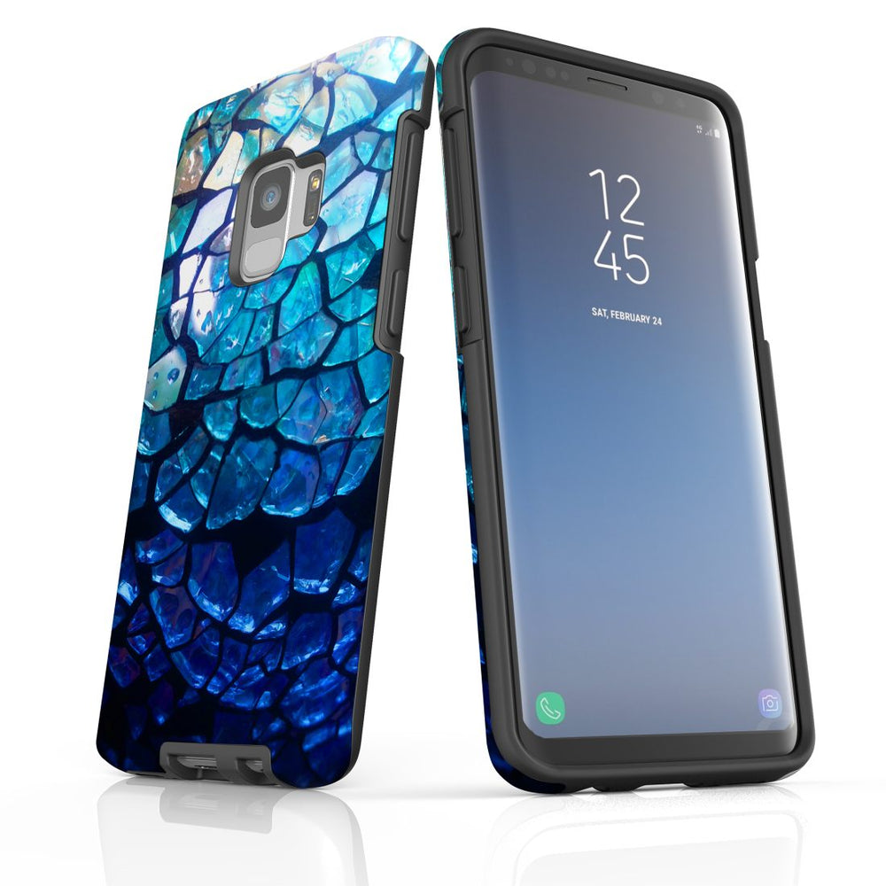 Samsung Galaxy S9 Case Protective Cover, Blue Mirror