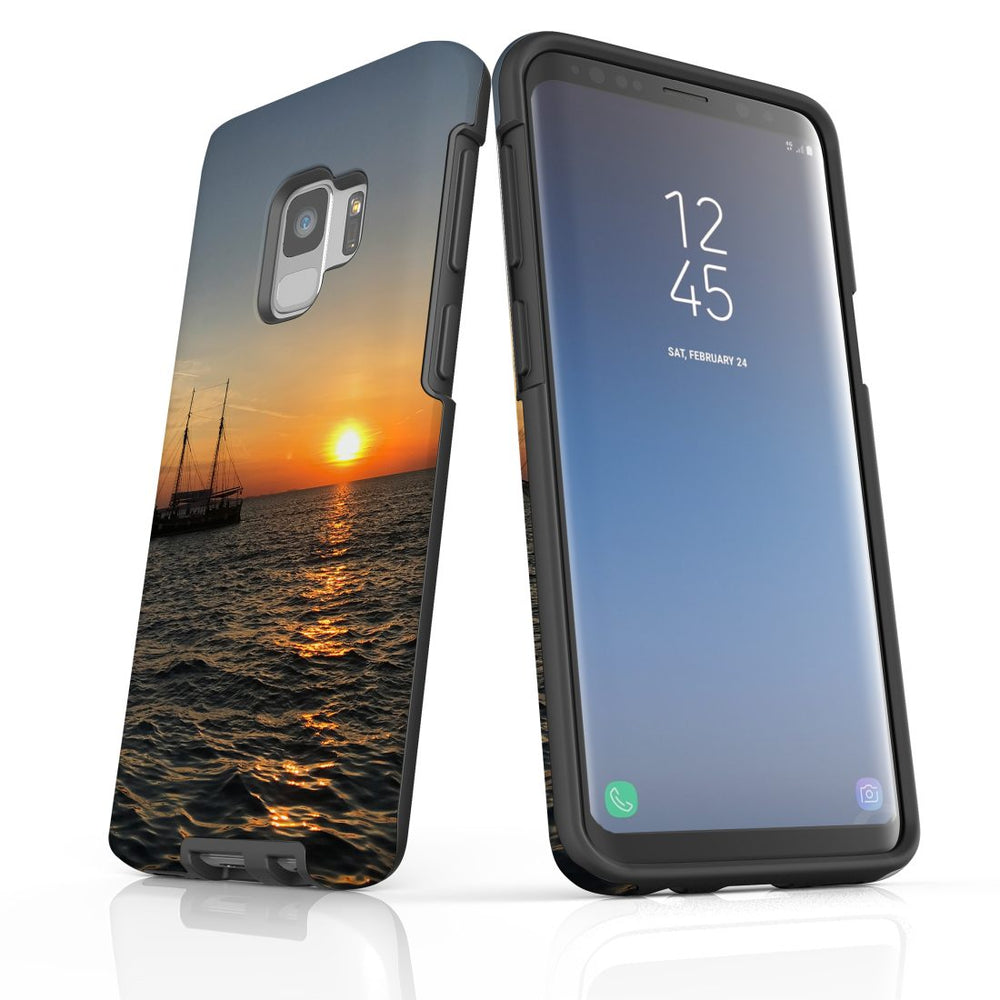 Samsung Galaxy S9 Case Protective Cover, Sailing Sunset