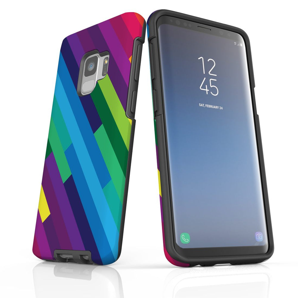 For Samsung Galaxy S9 Protective Case, Rainbow Pattern