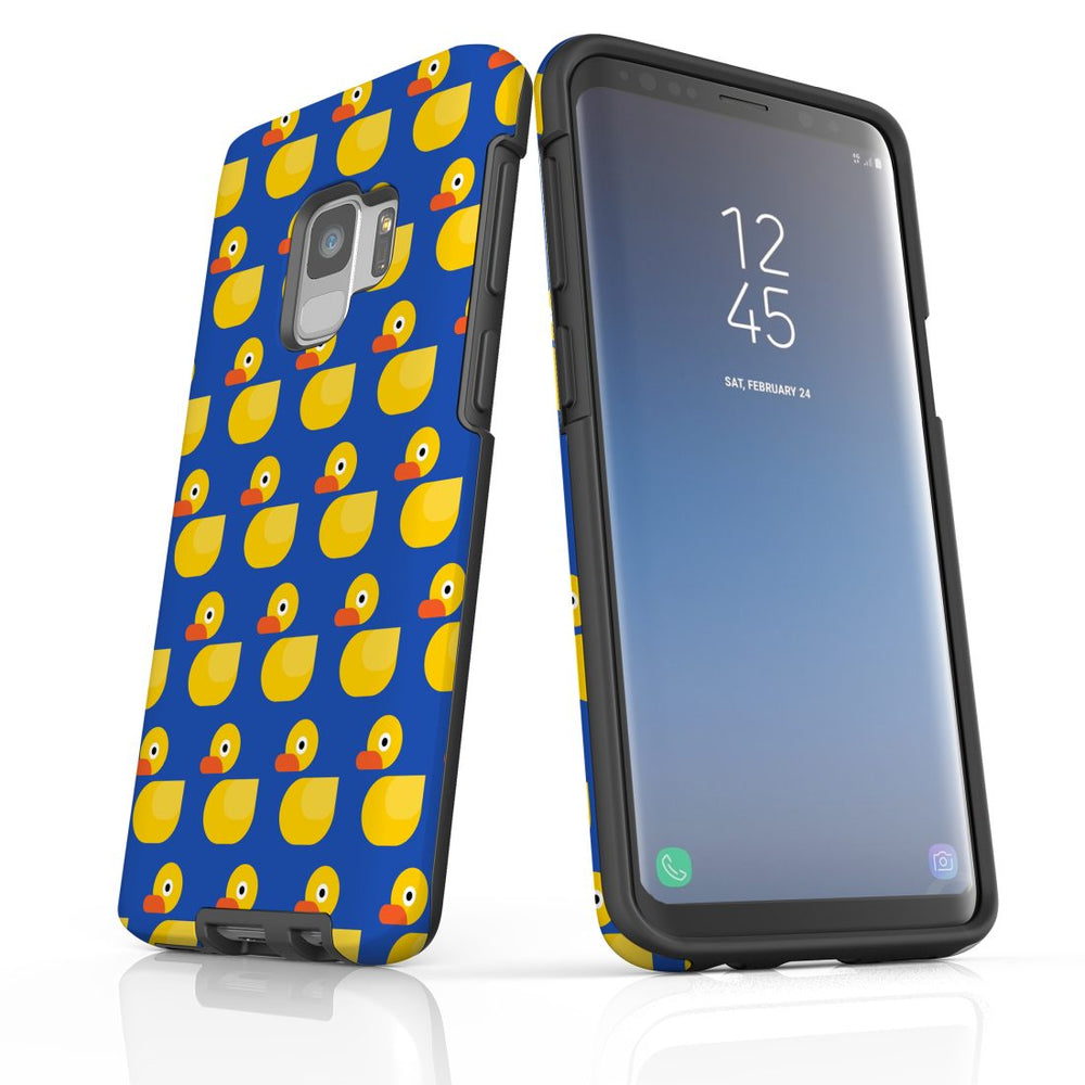 For Samsung Galaxy S9 Protective Case, Yellow Duckies Pattern