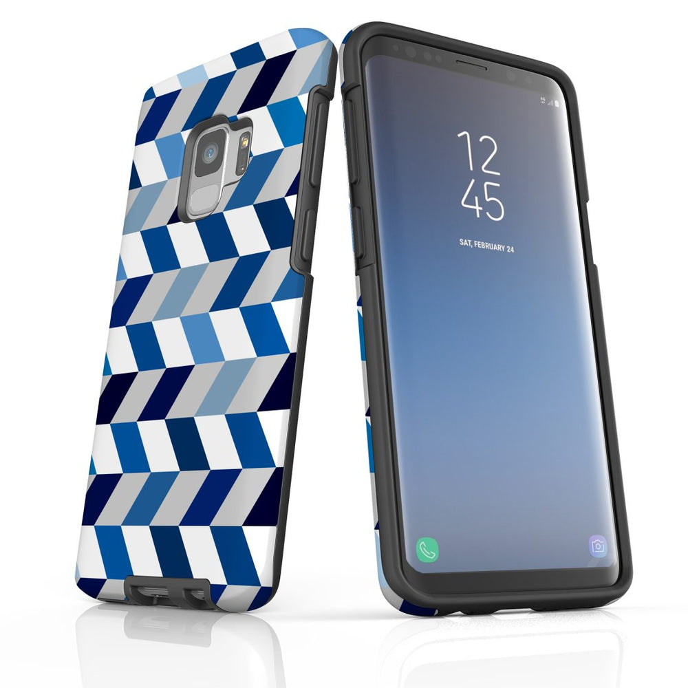 For Samsung Galaxy S9 Protective Case, Zigzag Chevron Pattern