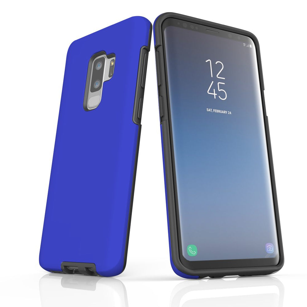 Samsung Galaxy S9+ Plus Case, Armour Tough Protective Cover, Blue