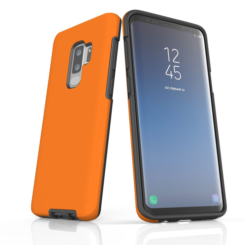 Samsung Galaxy S9+ Plus Case, Armour Tough Protective Cover, Orange