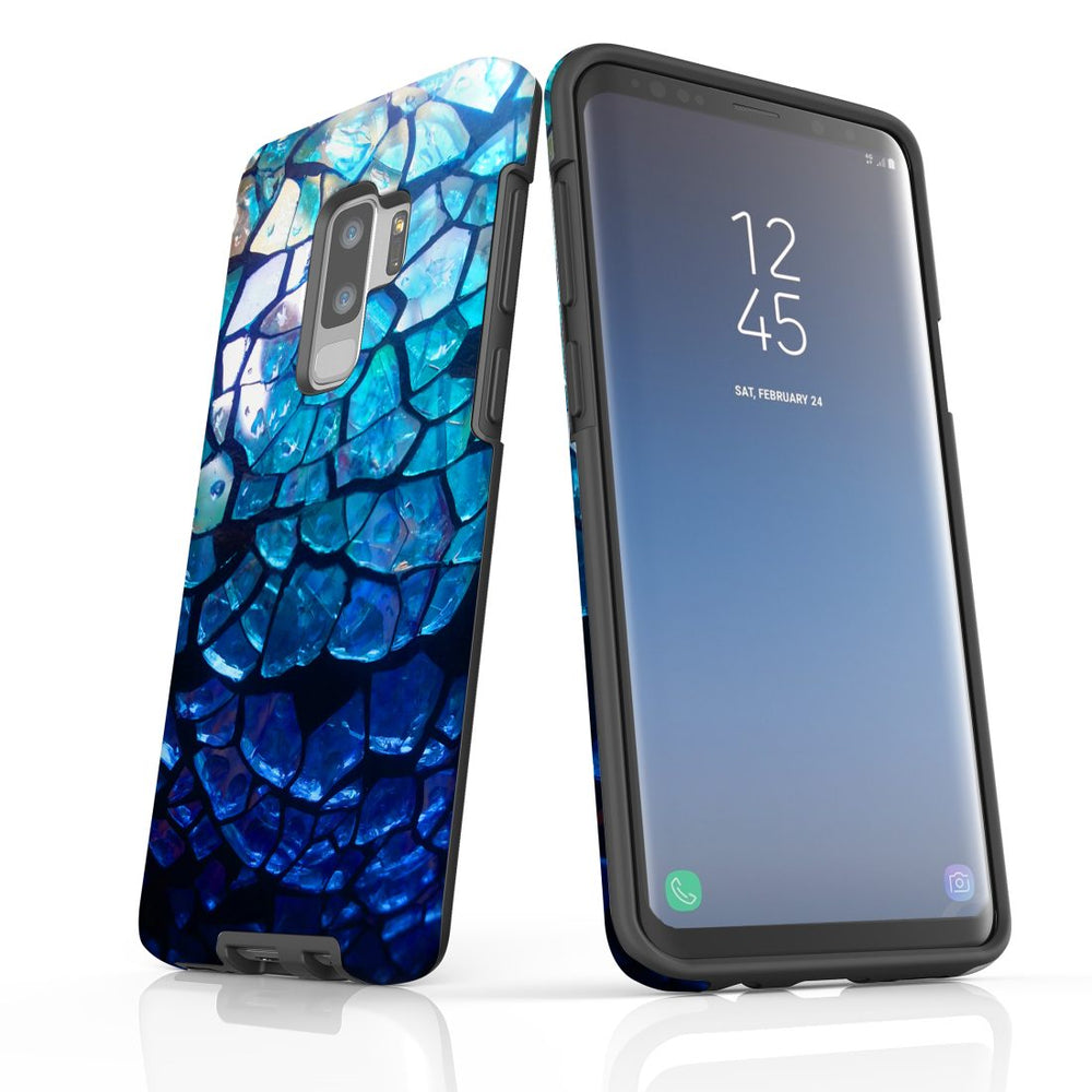 Samsung Galaxy S9+ Plus Case Protective Cover, Blue Mirror