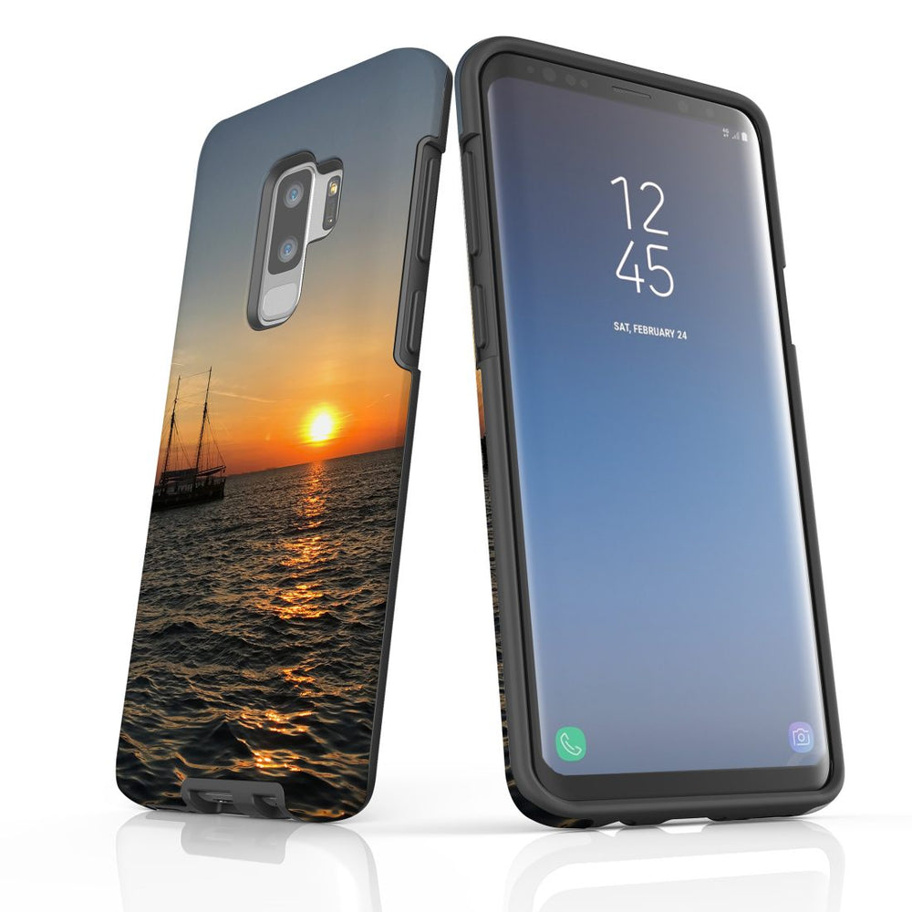 Samsung Galaxy S9+ Plus Case Protective Cover, Sailing Sunset