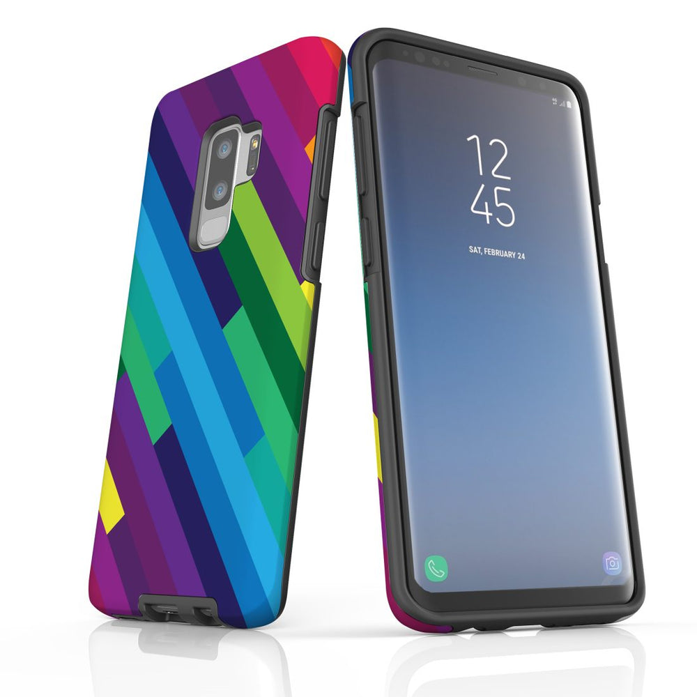 For Samsung Galaxy S9 Plus Protective Case, Rainbow Pattern