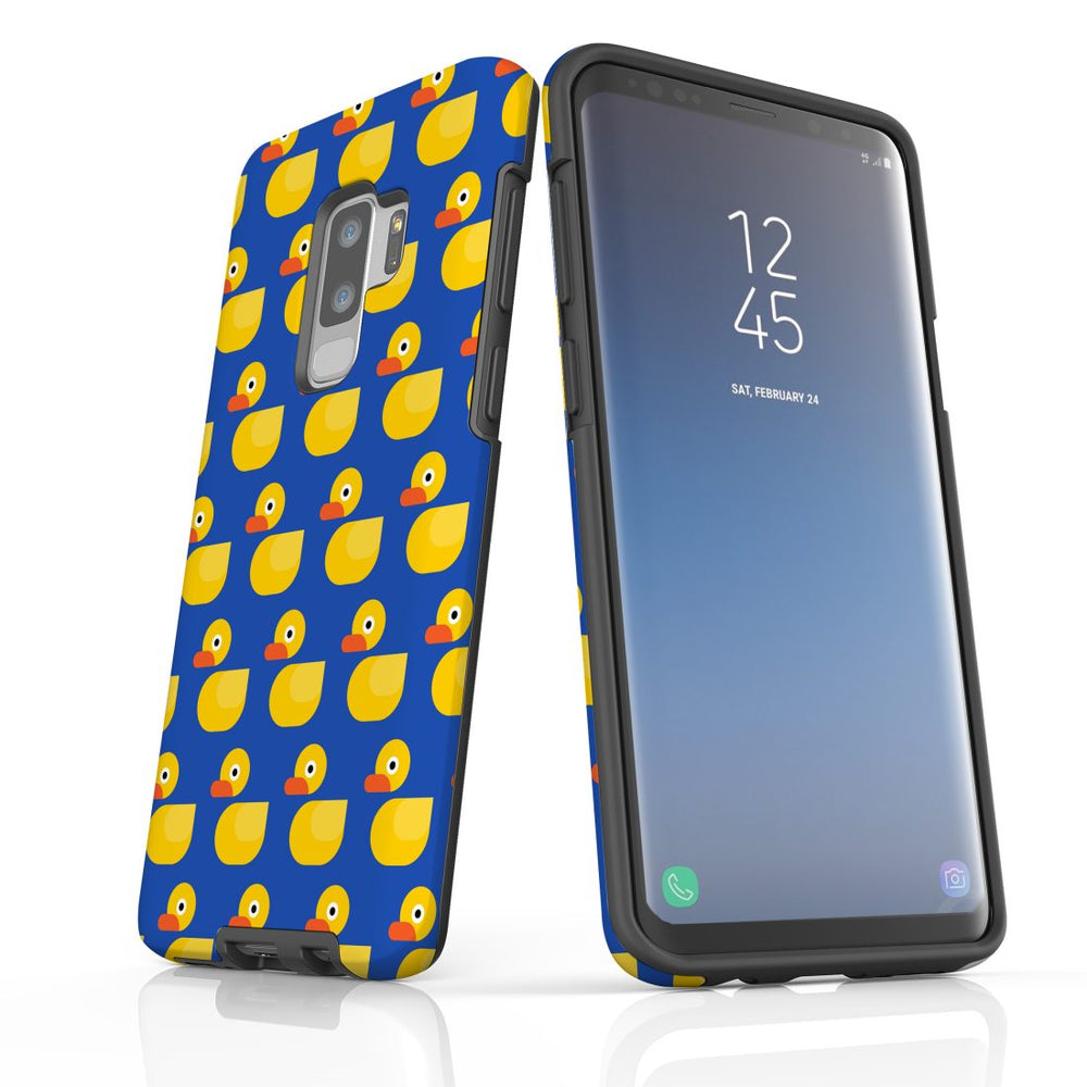 For Samsung Galaxy S9 Plus Protective Case, Yellow Duckies Pattern