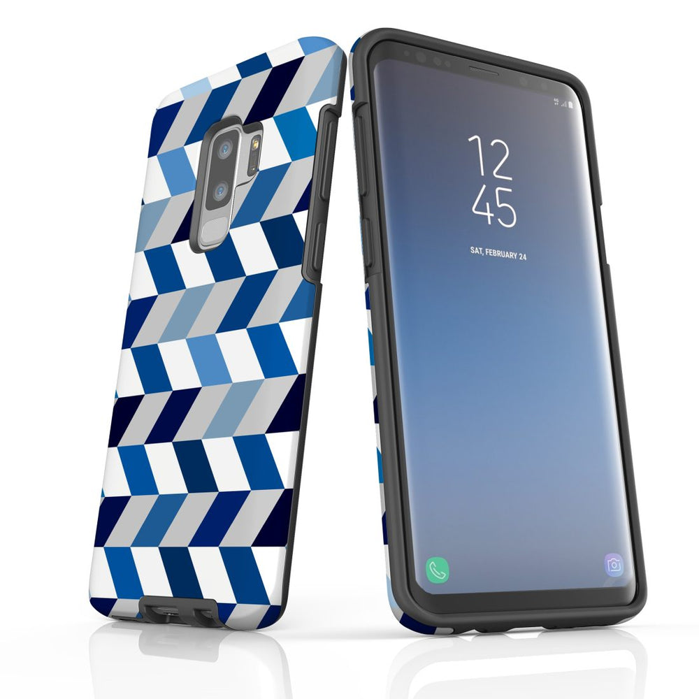 For Samsung Galaxy S9 Plus Protective Case, Zigzag Chevron Pattern